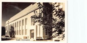NEW ROADS, LOUISIANA COURT HOUSE-1945 RPPC REAL PHOTO POSTCARD
