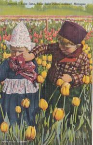 Michigan Holland Dutch Children In Tulip Field Nelis Tulip Farm Curteich
