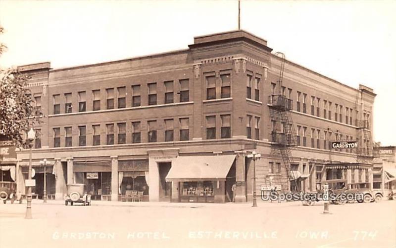 Gardston Hotel Estherville Ia Unused