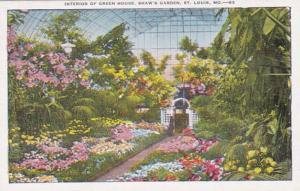 Missouri St Louis Shaw's Garden Interior Of Green House
