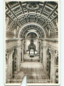 old rppc INTERNO DELLA BASILICA DI SAN PIETRO Vatican City Rome Roma Italy i3174