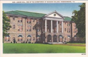 Junior Hall Dormitory, Madison College, Harrisonburg Virginia 1910-20s