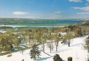 Cayuga Lake from Cornell Campus - Ithaca NY, New York - pm 2001