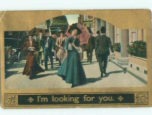 Divided-Back PRETTY WOMAN Risque Interest Postcard AA7884