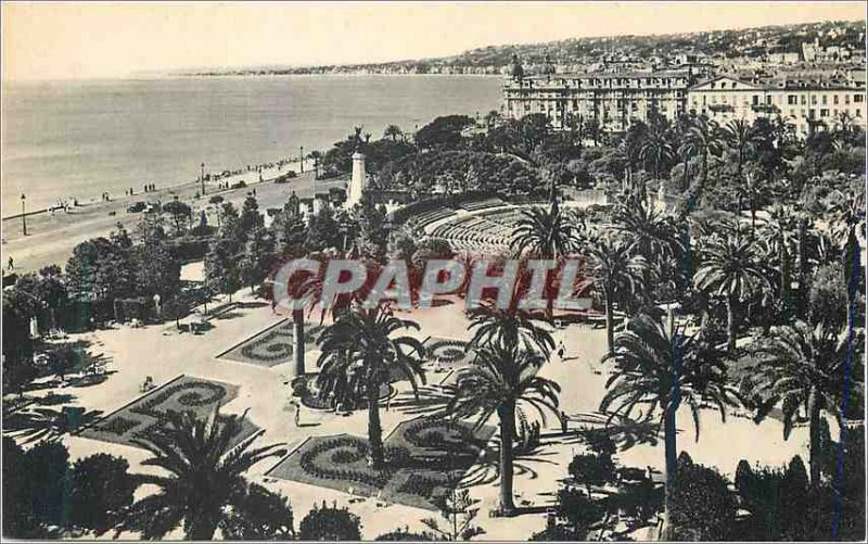 Old Postcard Nice Albert I Gardens and Theater de Verdure