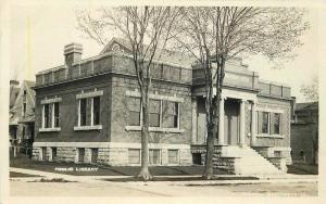 C-1910 Public Library Maquoketa Iowa Postcard 214