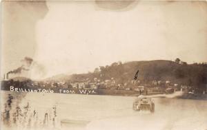 E94/ Brilliant Ohio RPPC Postcard Jefferson Co c1910 Steamboat River Homes