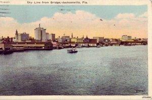 JACKSONVILLE, FL SKY LINE FROM THE BRIDGE 1928
