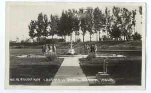 RPPC of Fountain in Lakeview Park Nampa Idaho ID by WACO
