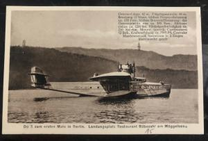 Mint Germany RPPC Real Picture Postcard Do X Flying Boat First Time In Berlin