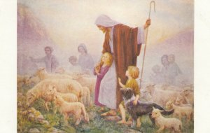Loving Shepherd by Margaret W. Tarrant, Sheep, Dog, Children, Jesus