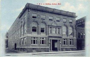 LPS28 JACKSON Michigan Y. M. C. A. Building Postcard