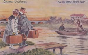 Hamster-Erlebnisse Künstlerkarte Arthur Thiele German Postcard