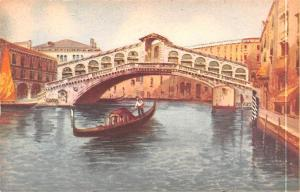 Italy Old Vintage Antique Post Card Venezia Ponte di Rialto Unused