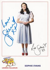 Sophie Evans The Wizard Of Oz Hand Signed Photo