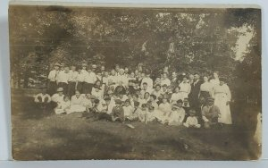 Rppc Family Reunion SARAH L BURK  c1910 Photo Likely Pennsylvania Postcard N10