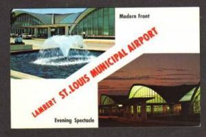 MO Lambert ST LOUIS Municipal Airport MISSOURI Postcard
