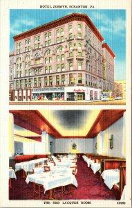 HOTEL JERMYN, SCRANTON, PA - VINTAGE - POSTCARD - PC
