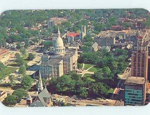 Pre-1980 AERIAL VIEW Lansing Michigan MI AC9388