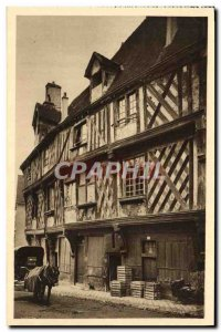 Old Postcard Chartres The Salmon House Horse