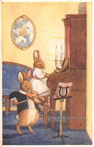 Dressed Animals Post Card The Duet 1939