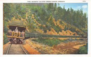 The Shasta Train in Cow Creek Canyon, Oregon, Early Postcard, Unused