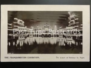 c1908 - Franco British Exhibition - The Court of Honour by Night
