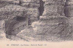 Etretat Les Falaises Sortie Du Tunnel Old French Postcard