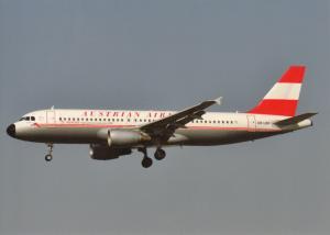 AUSTRIAN AIRLINES, A320-214, unused Postcard
