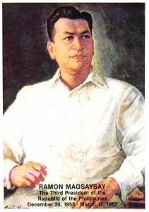 Philippines Old Vintage Antique Post Card Ramon Magsaysay Third President of ...