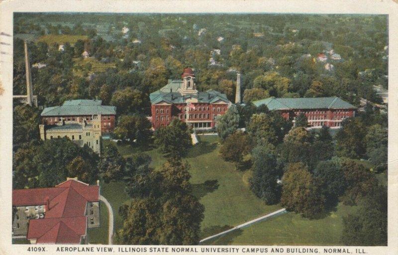 NORMAL, Illinois, 1925; Aeroplane View, State Normal University Campus & Bldgs.