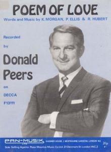 Poem Of Love Donald Peers 1940s Sheet Music