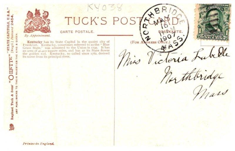 Kentucky Frankfort  ,Capitol bldg Tuck's 2454
