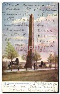 Old Postcard London Cleopatra's Needle