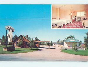 Unused Pre-1980 MOTEL SCENE Gaylord Michigan MI HJ9687