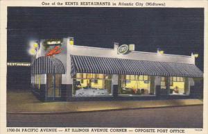 Kents Restaurant Midtown Pacific Avenue Atlantic City New Jersey Curteich