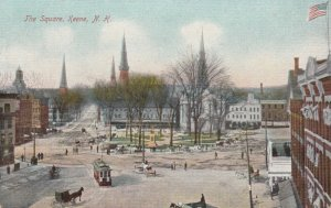 KEENE, New Hampshire, 1900-10s; The Square