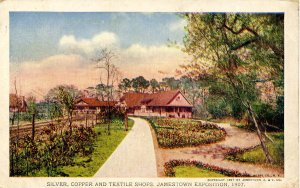 VA - Jamestown. Jamestown Exposition, 1907. Silver, Copper and Textile Shops
