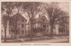 New York Syracuse Cottage Row Syracuse University Albertype