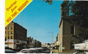 WEST POINT , Mississippi, 1950-60s ; Main STreet