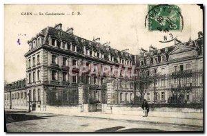 Old Postcard Caen Gendarmerie