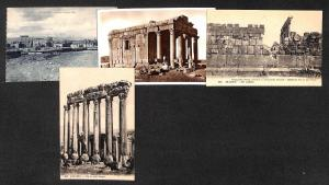 Lebanon Baalbek lot 4 vintage postcards