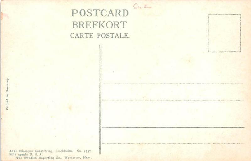 Sweden Old Vintage Antique Post Card Turnbyholm Skane Unused