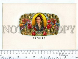 500068 VINETA Vintage embossed cigar box large label