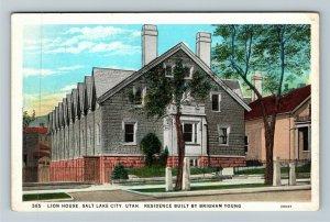 Salt Lake City UT-Utah, Lion House, Brigham Young Residence, Vintage Postcard