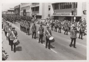 Canadian Military Street Parade Procession Postcard