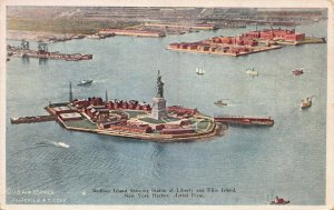 Bedloes Island Showing Statue of Liberty, New York, N.Y., Early Postcard, Unused