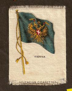 TURN OF CENTURY CIGARETTE SILK - VIENNA  FLAG
