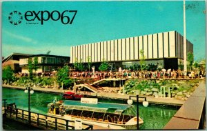 EXPO67 Montreal Canada Postcard CZECHOSLOVAK PAVILION Building View w/ Cancel