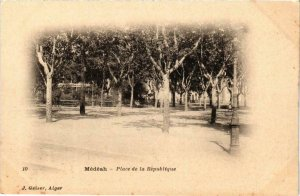 CPA AK Geiser 10 Médeah Place de la Republique ALGERIA (756962)